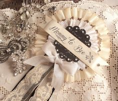 Mommy To Bee.  Vintage Style Prize Ribbon by AmongstLovelyThings, $14.00