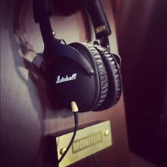 Marshall Monitor Headphones.