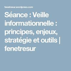 Séance : Veille informationnelle : principes, enjeux, stratégie et outils | fenetresur