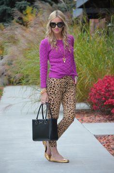 Leopard Print Skinnies.