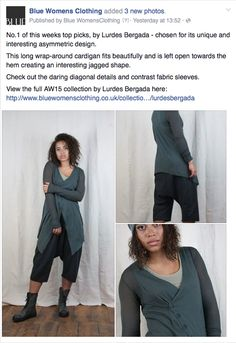 No. 1 of this weeks TOP PICKS... http://www.bluewomensclothing.co.uk/products/lurdes-bergada-crossover-cardigan