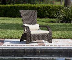 Coconino Deluxe Wicker Outdoor Patio Chair - Balkene Home Outdoor Wicker Chairs, Patio Lounge Chairs, Patio Dining, Outdoor Seating, Outdoor Furniture Sets, Outdoor Decor, Backyard Furniture, Wicker Furniture, Outdoor Lounge
