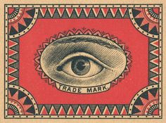 Swedish vintage matchbox label