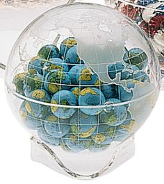 globes | ... to fill with chocolate globes perfect trade shows or public events