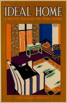 F Godfrey Brown | Ideal Home Show exhibition 1930s poster