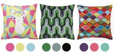 Project Nursery - Color Inspiration from Pillows
