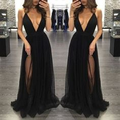 best=Sexy Prom Dress Sleeveless Black Prom Dresses with Slit Backless Evening Dress Sexy Prom Dresses 2017 Party Dress Formal Prom EGUSU Black Evening Dresses, Black Prom Dresses, Sexy Dresses, Cute Dresses, Evening Gowns, Beautiful Dresses, Dress Outfits, Dress Up, Evening Party