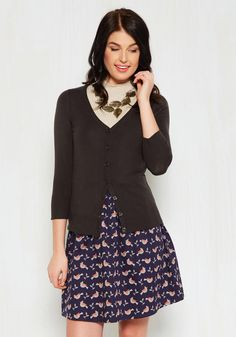 Charter School Cardigan in Charcoal, #ModCloth