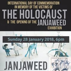 You are invited: to the opening of Kevin Brands exhibition Janjaweed 6pm Sunday 28 January. Rsvp to admin@holocaust.org.za. Venue: Cape Town Holocaust and a Genocide Centre 88 Hatfield street. Exhibition runs till 28 February. Hours: Sun-Thurs 10am-5pm; Fri 10am-2pm #kevinbrand