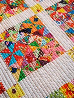 rainbow - this is how you use up every piece of scrap fabric!!