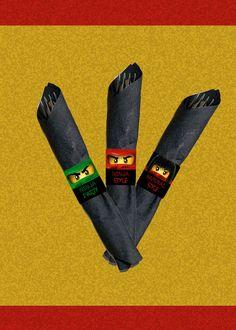 Ninja Napkin Rings: Instant Download