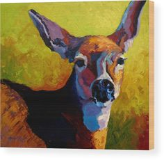 Doe Portrait V Wood Print by Marion Rose. All wood prints are professionally printed, packaged, and shipped within 3 - 4 business days and delivered ready-to-hang on your wall. Choose from multiple sizes and mounting options.