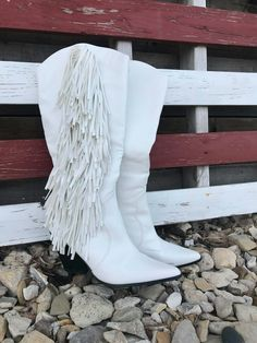 The Sinatra's White Fringe Boots – Baha Ranch Western Wear Fringe Cowboy Boots, White Boots, Comfortable Fashion, Black Faux Leather, Back To Black, Western Wear, Ranch, Beautiful, Style