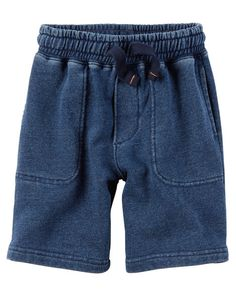 Toddler Boy Indigo French Terry Shorts from Carters.com. Shop clothing & accessories from a trusted name in kids, toddlers, and baby clothes.