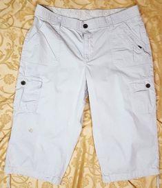2faad815578 LEE Women s Plus Size 16M Straight Fit Bohemian Cargo Capri Pants  Tie-Bottom  Lee