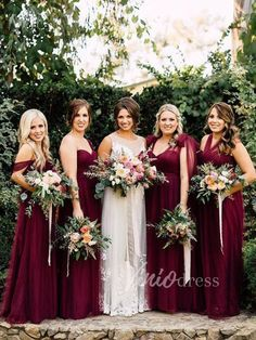 Burgundy Convertible Bridesmaid Dresses Tulle Purple Mismatched Bridesmaid Dresses - Mauve and dark purple convertible bridesmaid dresses:hater, one shoulder,with sleeve or sleeveless.All your call.This dress can be custom made in any color and size. Cranberry Bridesmaid Dresses, Winter Bridesmaid Dresses, Winter Bridesmaids, Bridesmaid Dresses Plus Size, Mismatched Bridesmaid Dresses, Bridesmaid Dress Colors, Wedding Bridesmaids, Jewel Tone Bridesmaid, Bride Dresses