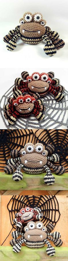 Spencer the spider amigurumi