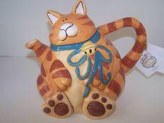 Show details for Orange Cat Teapot