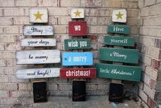 Personalized Reclaimed Wood Christmas Tree Holiday Decoration