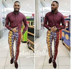 A lot has been said about Senator styles and Men Ankara styles. Today however, we are looking at ways men can transform their conventional African prints. African Wear Styles For Men, Ankara Styles For Men, African Shirts For Men, African Attire For Men, African Clothing For Men, African Style, African Women, African Clothes, Nigerian Men Fashion