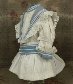 French Factory-Original Marine Bebe Costume circa 1890's