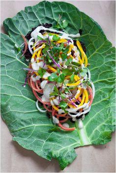 Collard Wraps with Briny Cashew Cream // www.80twenty.ca #vegan #glutenfree