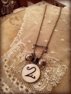 Steampunk Neo Victorian Necklace. Brass chain and door OddFibulae