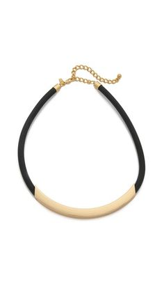 Kenneth Jay Lane Bar Short Necklace is a go-to necklace for the chic and modern woman. Toss it on while on the go in the #CAbi Runaround Pant for a complete look (http://www.cabionline.com/2015/07/14/3-fashion-forward-pieces-to-buy-now-and-love-forever/)