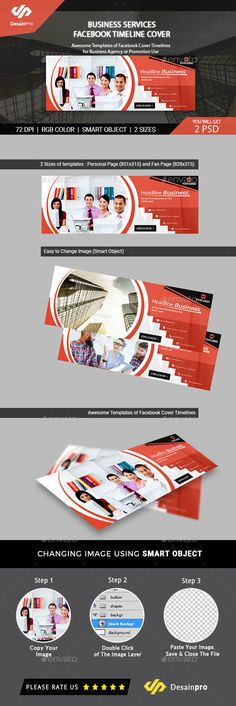 Facebook Timeline Cover Templates by Medialoot on @creativemarket - advertising timeline template