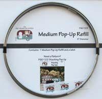 Pop up refill 8 inch