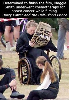 ...  one day, Maggie Smith walks into the shop and asks him where the Potter books are.