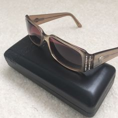 "Versace Prescription Bone Style Eyeglasses & Case Authentic Versace prescription bone style eyeglasses with the original case.  Measurements: 5.5"" Width 5"" Length  1.5"" glass length. Gently used and excellent condition. No trade, no holding, no off sight payment Versace Accessories Glasses"