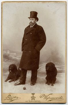 Gentleman With Dogs by josefnovak33, via Flickr