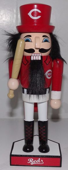 2016 Cincinnati Reds Holiday Nutcracker Limited Edition 2nd Edition #CincinnatiReds
