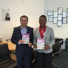 At TSC London office with Angeline M Ward (UClan)