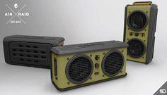 Bluetooth Wireless Speaker between 6000 to 10000 Rupees Air Raid, Bluetooth, Wireless Speakers, 3d Things, Jean Marie, Latest Gadgets, Marshall Speaker, Audio System, Walkie Talkie