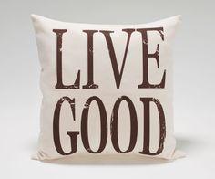 Live-good pillow. 100% Organic.