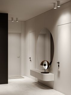 DGLN Interior Design is a project by Roman Kot and Andrus Bezdar made for ZROBYM architects based in Minsk, Belarus. Minimalist Interior, Minimalist Home, Modern Interior, Interior Architecture, Lobby Interior, Bathroom Interior, Interior Design Living Room, Interior Decorating, Apartment Interior
