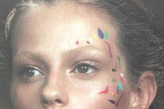 Glastonbury Festival Fashion Inspiration. hippie, bohemian, boho, makeup, face paint, beauty, eyes, colourful, pattern