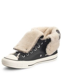 bd3e97f2ae3028 Converse Chuck Taylor All Star Knee-Hi Leather Shearling Boots