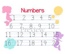 Mermaid Theme: Alphabet and Numbers Combo!