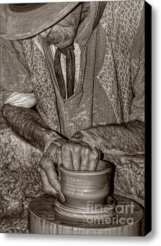 The Potter Stretched Canvas Print / Canvas Art By Joann Vitali