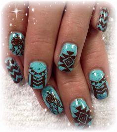 Gelic Nail Art Native American Tribal Nail Art Nails Pinterest
