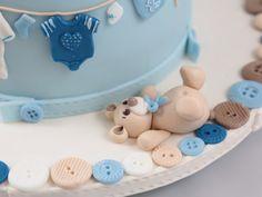 Wäscheleine Torte Clothes Line Baby Fondant Cake