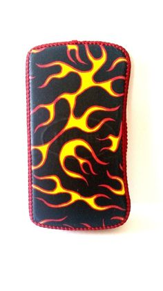 New Fire Flames Black Yellow Red Diaper Wipe Holder Cover Baby Boy Handmade #Handmade