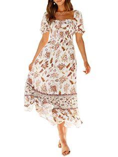 Bohemian Summer Dresses, Boho Dress, Beautiful Long Dresses, Maxi Styles, Dress First, Girl Fashion, Vacation Outfits, Neck Design, Beach Party