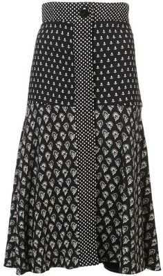 Check out Proenza Schouler with over 2 items in stock. Shop Proenza Schouler Block Print Flared Skirt today with fast Australia delivery and free returns. Modest Fashion, Girl Fashion, Fashion Outfits, Womens Fashion, Apostolic Fashion, Modest Clothing, Fashion Fall, Black And White Skirt, White Skirts