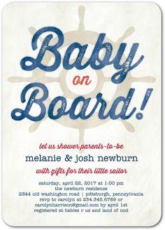 Teeny Sailor - Baby Shower Invitations in Gibraltar | Sarah Hawkins Designs