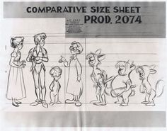 "Height sheet (from ""Peter Pan"") so that nobody changes size over the course of the movie. I'll have to try this... I have tenuous ideas of height for my characters."