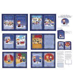 Holiday Inspirations Fabric- 36''  Charlie Brown Christmas Book Panel